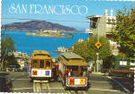 Hyde Street Cable Cars, Bay, Alcatraz,San Francisco