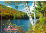 Autumn Lake Scene Adirondacks of New York cs7883