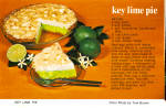 Click here to enlarge image and see more about item cs7997: Key Lime Pie Recipe Postcard cs7997