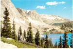 Click here to enlarge image and see more about item cs8037: Lake Marie in Medicine Bow National Forest Wyoming cs8037