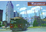 Click here to enlarge image and see more about item cs8061: Nashville, Tennessee, Trolley at Riverfront Park