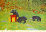 Mother  Black Bear and Cubs Postcard cs8090
