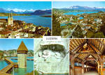 Lucerne, Switzerland, Chapel Bridge and Alps