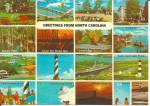 Greetings From North Carolina Multi View Postcard