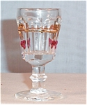 Mosser Glass Cherry Pattern Cordial Set of 4 MIB