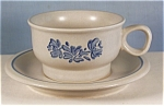 Click here to enlarge image and see more about item d0633: Pfaltzgraff  Yorktowne Cup/Saucer