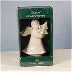 Click here to enlarge image and see more about item d0880: Goebel 1979 Angel Christmas Ornament