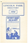 Click here to enlarge image and see more about item d1165: Lincoln Park, PA Directory Booklet Dated 1970