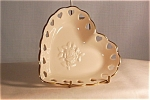 Click here to enlarge image and see more about item d1430: Lenox Heart Shaped Dish