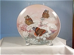 Click here to enlarge image and see more about item d1449: Red Admirals-On Gossamer Wings Butterfly Plate