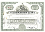 Click here to enlarge image and see more about item d1831: Central Foundary Company Stock Certificate 1947 d1831