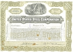 Click here to enlarge image and see more about item d1833: United States Steel Corp Stock Certificate 1947 d1833