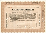 Click here to enlarge image and see more about item d1835: S.D. Warren Company Stock Certificate 1929 d1835