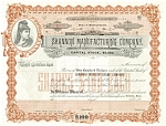 Shannon Manufacturing Company Blank Stock Certificate d1836
