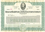 Belknap Hardware and Mfg Blank Stock Certificate d1837