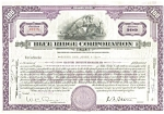 Click here to enlarge image and see more about item d1838: Blue Ridge Corp. Stock Certificate 1934