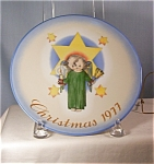 Click here to enlarge image and see more about item d1862: 1977 Sister Berta Hummel-Herald Angel-Collector Plate