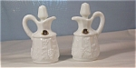 Click here to enlarge image and see more about item d2104:  Westmoreland Paneled Grape Milk Glass Cruets