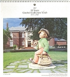 Click here to enlarge image and see more about item d2163: Goebel Collectors Club 1987 Calender d2163