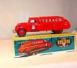 Click here to enlarge image and see more about item d2324: Ertl Texaco 1939 Dodge Airflow Diecast Coin Bank