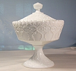Fenton  Silver Crest Spanish Lace Candy Box