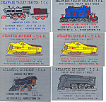 Click here to enlarge image and see more about item d2485: Train Collectors Association Mtg Plaques Amer Flyer
