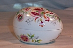 Limoges France Flowered China Egg