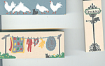 Cats Meow  Accessories Sign,Chickens,Clothesline