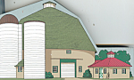Click here to enlarge image and see more about item d2692: Hometown Collectible Cherbourg Round Barn