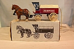 Click here to enlarge image and see more about item d2806: Horse and Delivery Wagon Bank, by Ertl