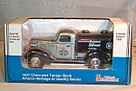 Click here to enlarge image and see more about item d2812: 1937 Chevrolet Amoco Tanker Bank Silver