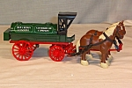 Click here to enlarge image and see more about item d2852: Ertl Amoco Horses and Tank Wagon Bank