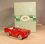 Click here to enlarge image and see more about item d2890: 1964 1/3 Ford Mustang Mini Pedal Car