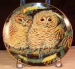 Click here to enlarge image and see more about item d3204: Tawny Owls by Dick Twinney,Baby Owls Collection
