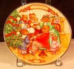 Click here to enlarge image and see more about item d3215: Together at Christmas, Bears, Collector Plate 1989