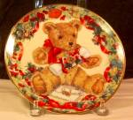 Click here to enlarge image and see more about item D3274: Franklin Mint Teddy's First Christmas Collector's Plate