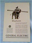 General Electric Co Ad for Motors from 1927