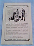 American Express Travelers checks ad  dec1612 1927