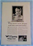 Williams Shaving Cream ad 1927