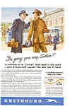 1943 Greyhound Bus Line Ad feb0191