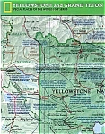 Click here to enlarge image and see more about item feb138: National Geographic Map, Yellowstone,1989