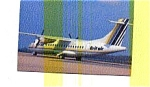 Click here to enlarge image and see more about item feb1461: Brit Air ATR-42 Airline Postcard