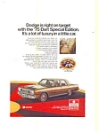 Click here to enlarge image and see more about item feb1761: 1975 Dodge Dart AD feb1761