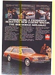 Click here to enlarge image and see more about item feb1762: 1978 Dodge Diplomat Wagon AD