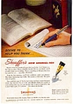 Click here to enlarge image and see more about item feb2213: Shaeffer Snorkel Fountain Pen Ads feb2213 Lot of (2)