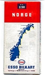 Click here to enlarge image and see more about item feb2261: Esso Map of Norway