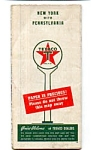 Texaco 1946 Map NY PA