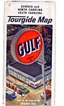 Click here to enlarge image and see more about item feb2553: Gulf Oil Tourgide Map GA NC SC feb2553