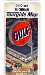 Click here to enlarge image and see more about item feb2556: Gulf Oil Tourgide Map OH MI