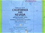 Click here to enlarge image and see more about item feb2560: Nat Geo Close Up USA Map CA NV feb2560